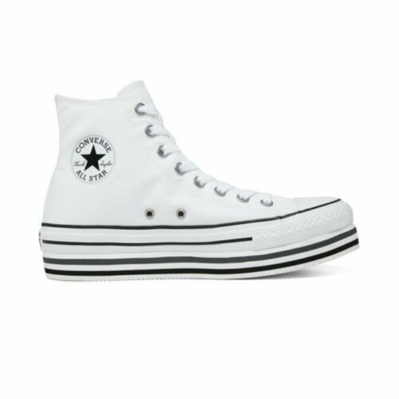 converse all star hi platform white